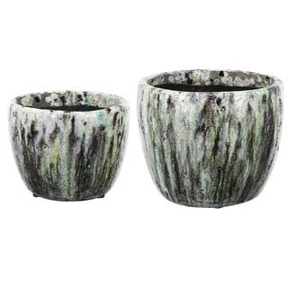 Multicolor Ceramic Planters (Set of 2)