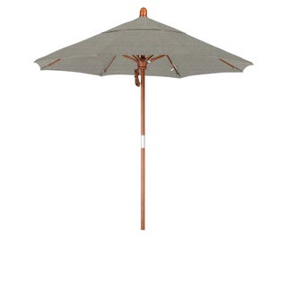 California Umbrella 7.5' Rd. Marenti Wood Frame, Fiberglass Rib Market Umbrella, Double Wind Vent, Sunbrella Fabric