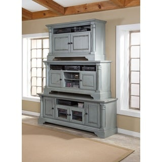 Progressive Gramercy Park Distressed Grey Pine/Veneer/Bronze Entertainment Consoles