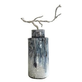 Terracotta Lidded Decorative Jar