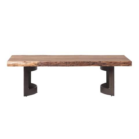 "Aurelle Home Rustic Plank Coffee Table - 56"" x 28"" x 16"""