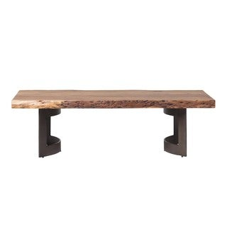 Aurelle Home Rustic Plank Coffee Table