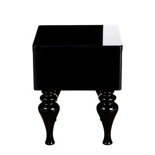 Aurelle Home Glossy Black Side Table
