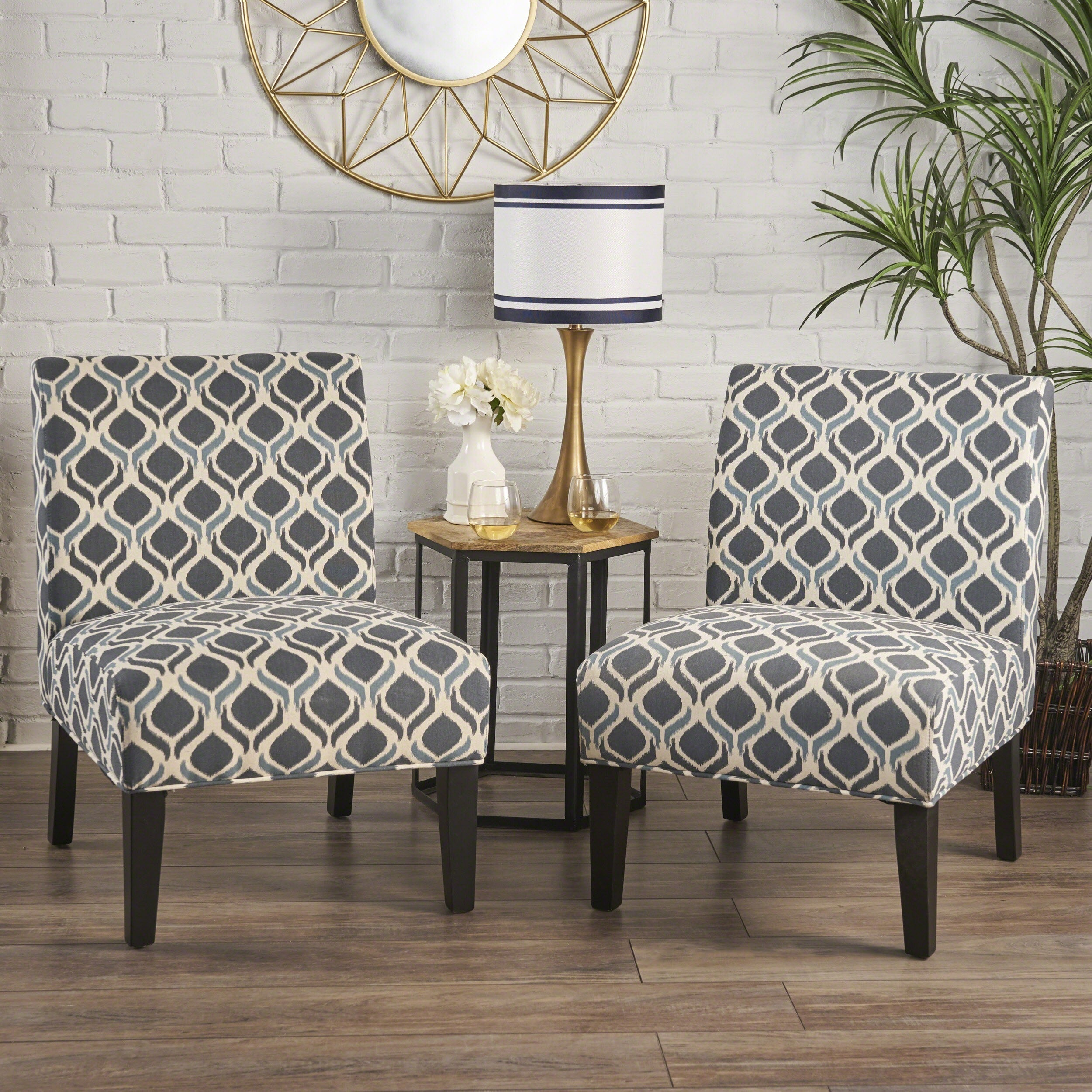 Accent Chairs.Shop Saloon Fabric Print Accent Chair By Christopher Knight Home