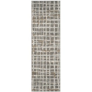 Safavieh Indoor/ Outdoor Amherst Grey/ Ivory Rug (2' 3 x 9')