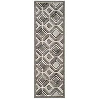 Safavieh Amherst Geneva Modern Indoor/ Outdoor Rug (23 x 7 Runner - Grey/Light Grey)