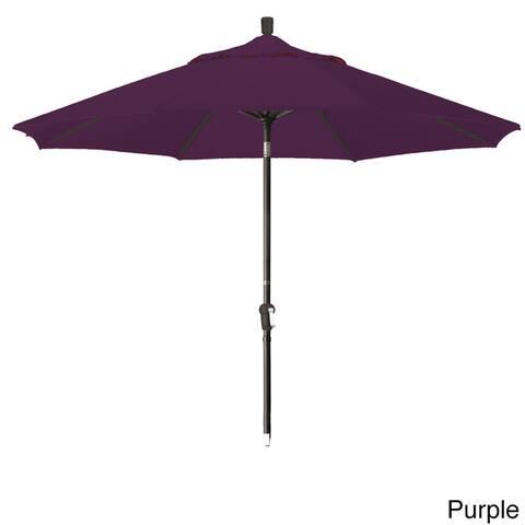 California Umbrella 9' Rd Alum Crank Open Auto Tlit Patio Umbrella