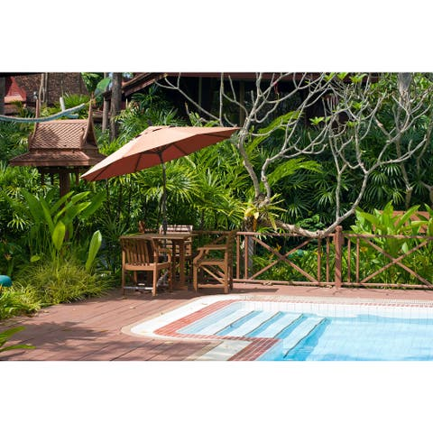 North Bend 9-foot Crank Open Auto-tilt Bronze Umbrella by Havenside Home