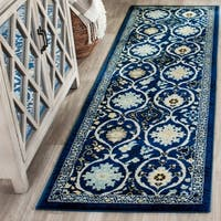 "Safavieh Evoke Vintage Royal Blue/ Ivory Distressed Rug - 2'2"" x 7'"