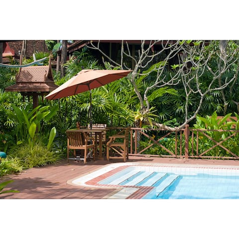 Havenside Home North Bend 11-foot Crank Open Bronze Umbrella