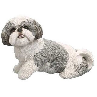 My Companion Shih Tzu Silver/White Keepsake Pet Urn