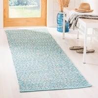 Safavieh Hand-Woven Montauk Turquoise/ Multi Cotton Rug - 2' 3 x 7'