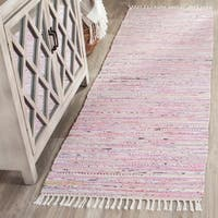 "Safavieh Hand-Woven Rag Rug Light Pink/ Multi Cotton Rug - 2'3"" x 6'"