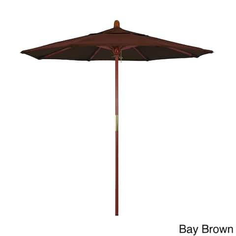 Port Lavaca 7.5ft Round Wood Umbrella by Havenside Home, Base Not Included