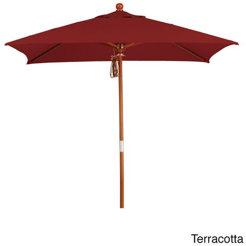 Port Lavaca 6ft Square Wood Umbrella by Havenside Home, Base Not Included