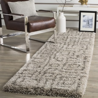 Safavieh Belize Shag Taupe/ Grey Runner (2'3 x 9')