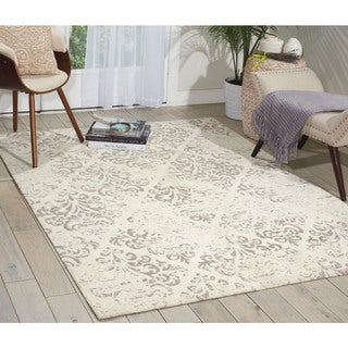 Nourison Damask DAS03 Vintage Distressed Area Rug