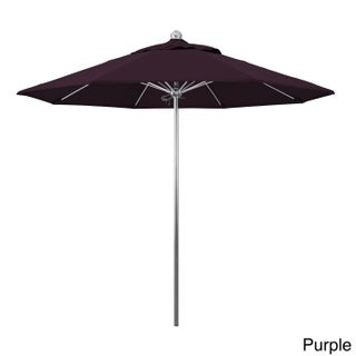 California Umbrella 9-Foot Stainless Steel Market Umbrella with Pacifica Fabric (Option: Purple/silver finish)
