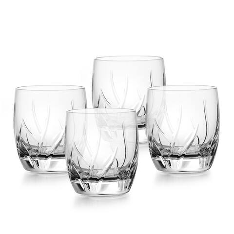 Mikasa Agena Crystal Double Old-fashioned Glasses (Set of 4)