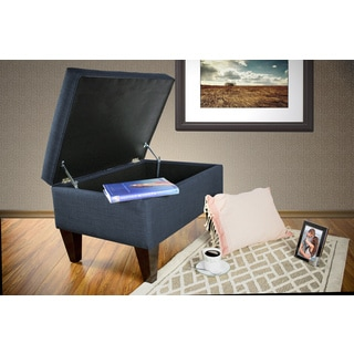 MJL Furniture Brooklyn DAWSON-7 Upholstered Square-legged Box Storage Ottoman