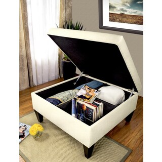 MJL Furniture Manhattan Allure Upholstered Organizational Cocktail Ottoman Table (4 options available)