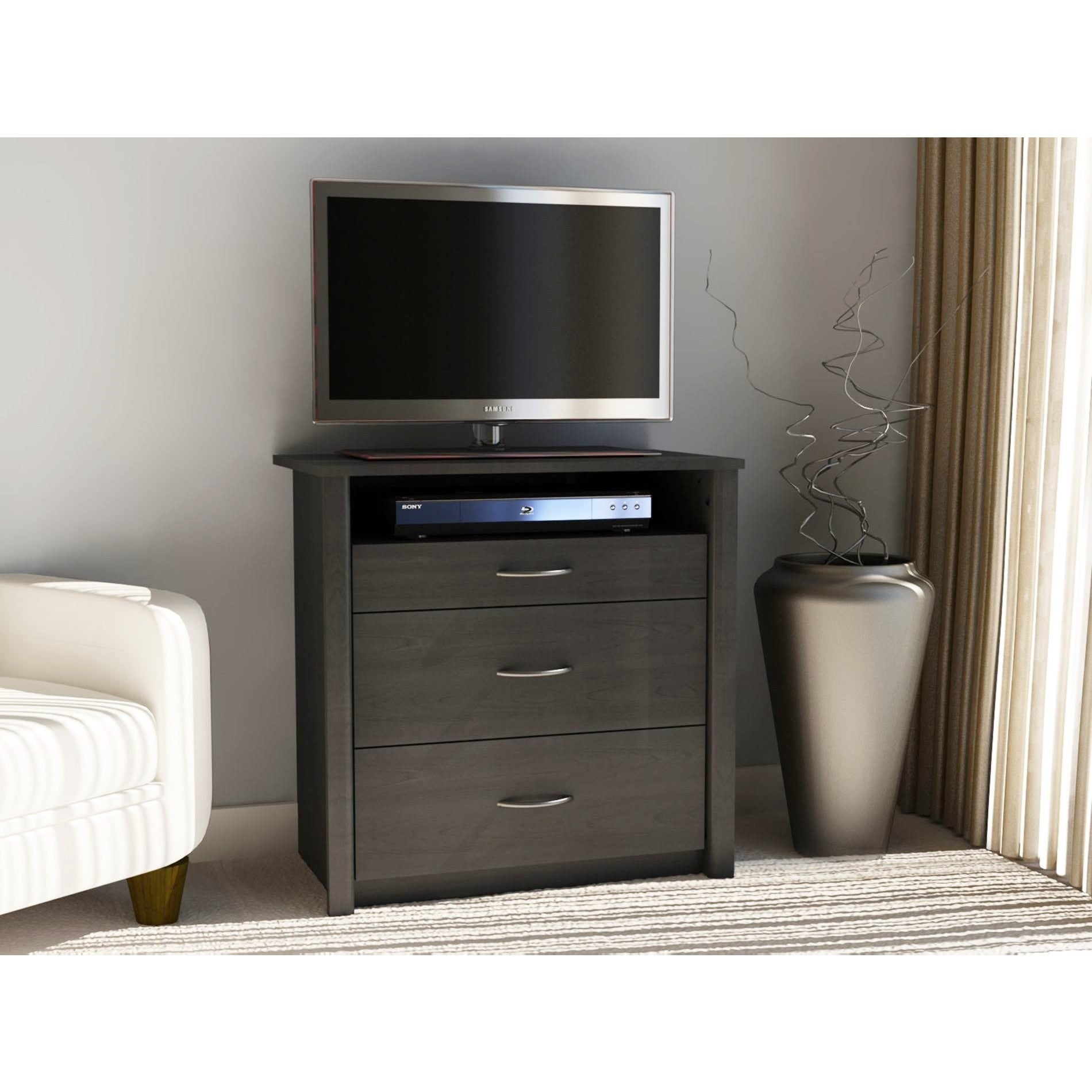 Ameriwood Home Altra Julian Black Ebony Ash Media Dresser...