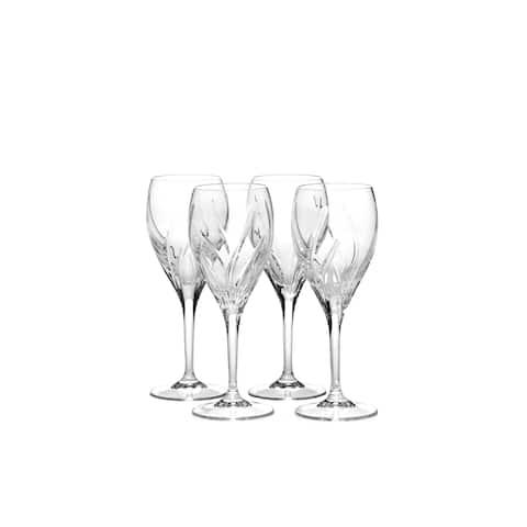 Mikasa Agena Crystal Wine Glasses Set of 4