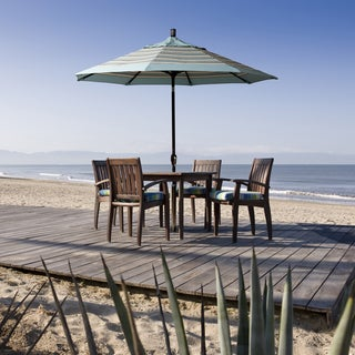 Link to Pompano 9ft Crank Lift Round Umbrella by Havenside Home, Base Not Included Similar Items in Patio Umbrellas & Shades