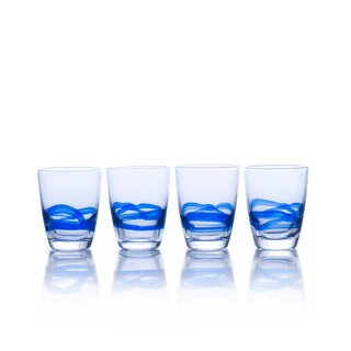Mikasa Admiral Cobalt Double Old-fashioned Glasses (Pack of 4)