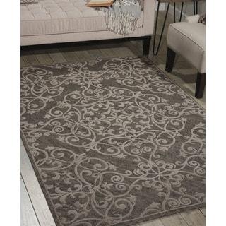 Nourison Damask Grey Rug (8' x 10')