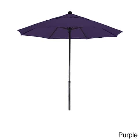 California Umbrella 7.5' Rd. Fiberglass Frame/Rib Commercial Market Umbrella, Push Lift System, Black Finish, Pacifica Fabric