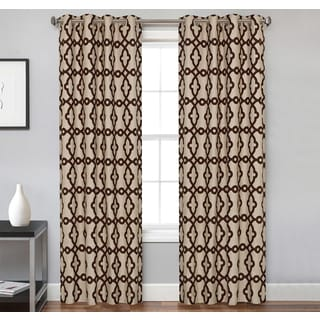 Spring Lake Gromment Microfiber 84-inch Curtain Panel Pair