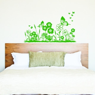 Style and Apply Flower Meadow Wall Decal, Sticker, and Mural Vinyl Art Home Decor
