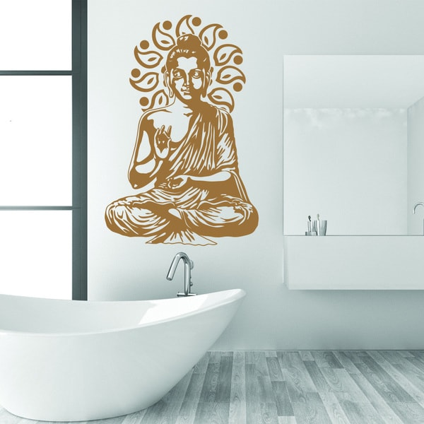 Style U0026amp; Apply Buddha Gold Vinyl Removable Wall Decal