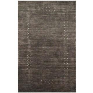 Herat Oriental Indo Hand-loomed Tribal Gabbeh Gray Wool Rug