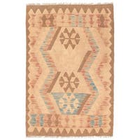 Herat Oriental Afghan Hand-woven Wool Mimana Kilim (2'9 x 4'2)