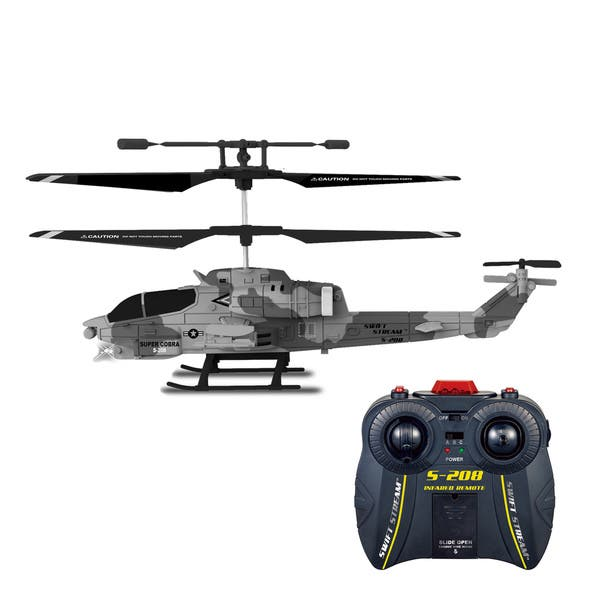 Shop Swift Stream S 208 Super Cobra Blue Remote Control Helicopter Overstock 11976416
