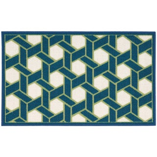 Waverly Fancy Free and Easy Shoji Ocean Area Rug by Nourison (1'10 x 4'6)