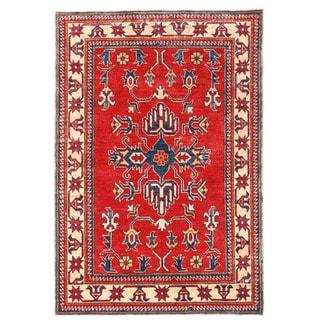 Herat Oriental Afghan Hand-knotted Kazak Wool Rug (3'7 x 5'4)