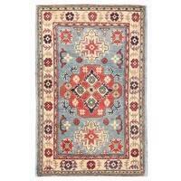 Handmade Herat Oriental Afghan Kazak Wool Rug (Afghanistan) - 2'8 x 4'1