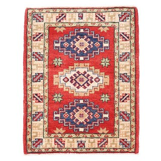 Herat Oriental Afghan Hand-knotted Kazak Wool Rug (2'1 x 2'8)