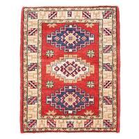 Herat Oriental Afghan Hand-knotted Kazak Wool Rug (2'1 x 2'8) - 2'1 x 2'8