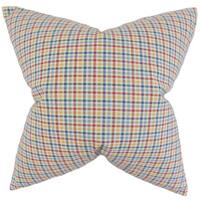 Hye Plaid Throw Pillow Cover