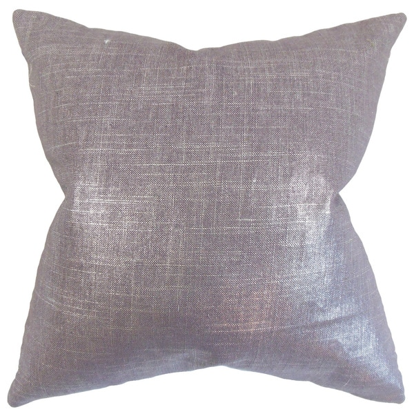 Florin Solid Throw Pillow Cover