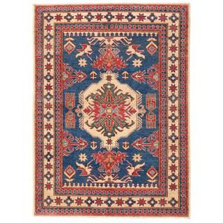 Herat Oriental Afghan Hand-knotted Kazak Wool Rug (4'6 x 6'3)