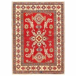 Herat Oriental Afghan Hand-knotted Kazak Wool Rug (2'10 x 4'3)
