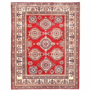 Herat Oriental Afghan Hand-knotted Kazak Wool Rug (5' x 6'4)