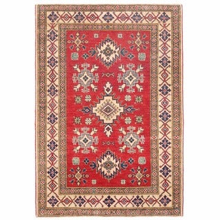 Herat Oriental Afghan Hand-knotted Kazak Wool Rug (3'9 x 5'4)