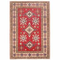 Herat Oriental Afghan Hand-knotted Kazak Wool Rug (3'9 x 5'4) - 3'9 x 5'4