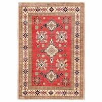 Handmade Herat Oriental Afghan Kazak Wool Rug  - 3'9 x 5'5 (Afghanistan)
